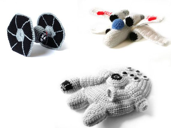 I need to buy this pattern eventually. Evan is going to need these to go with his Star Wars amigurumi characters
