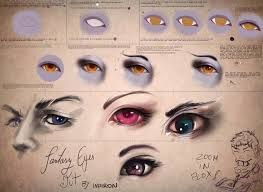 Image result for how to draw semi realistic eyes