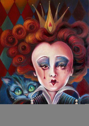 Red Queen Oil Painting - alice-in-wonderland-2010 Fan Art
