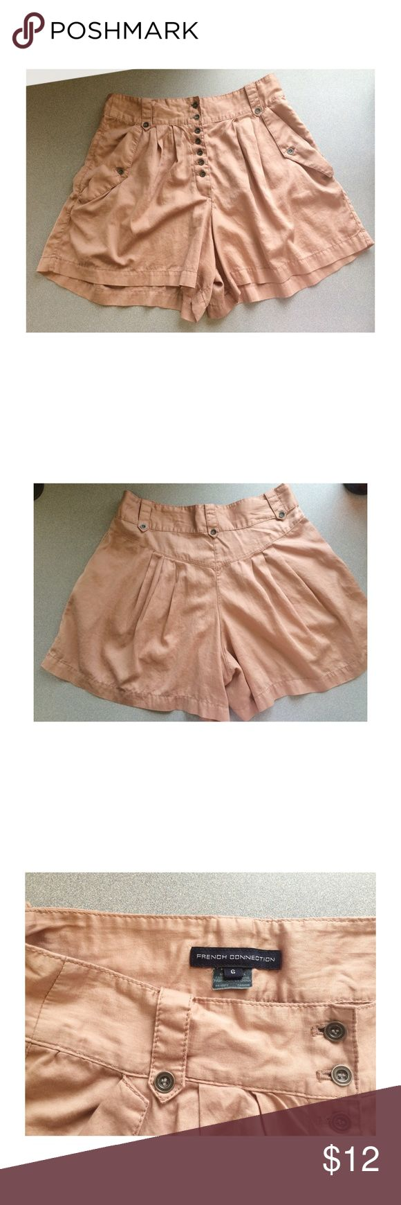 French Connection high wasted shorts High wasted, super light weight, muted pink shorts💗 %100 cotton French Connection Shorts