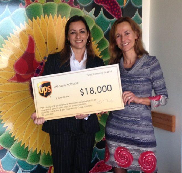UPS apoia Associação Acreditar no auxílio a crianças com cancro