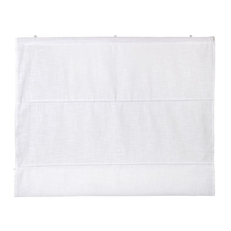 Store en coton 100x170cm Blanc - Lina II - Les stores et tringles - Textiles et tapis - Salon et salle à manger - Décoration d'intérieur - Alinéa