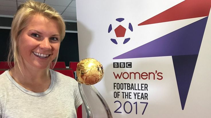 May 31 2017 - 21-year-old Olympique Lyonnais and Norway striker Ada Hegerberg crowned BBC Women's Footballer of the Year 2017