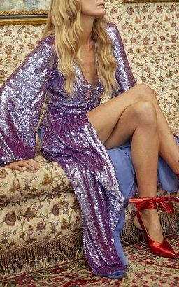 Long Sequin Dress by Attico