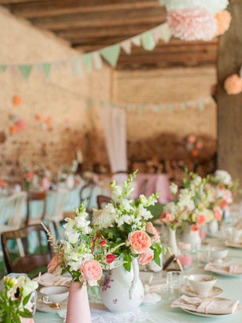 Les 25 meilleures id es concernant mariage fuschia sur - Decoration champetre pour mariage ...