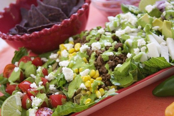 Flavor Explosion Mexican Salad recipe is perfect for busy days or hot weather. Low carb and uses fresh jicama, avocado and tomatoes.