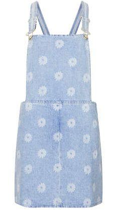 MOTO Daisy Print Pin up Dress #topshop
