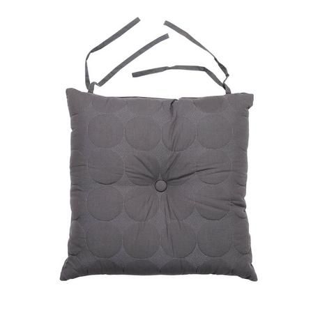 Elements Circle Stitch Grey Seat Pad