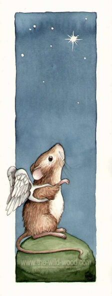 """""""Little Missy Mouse had heard the stories that said that every star in the sky is an angel. Missy could think of nothing better than to be an angel shining in the sky, so, every night she would put on her little angel wings, climb the highest hill she could find and gaze up at the other angels."""""""