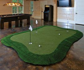 Beautiful Indoor Putting Green Contemporary - Interior Design ...