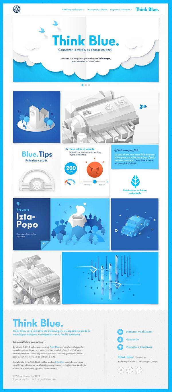 Volkswagen - Think Blue. Website on Web Design Served
