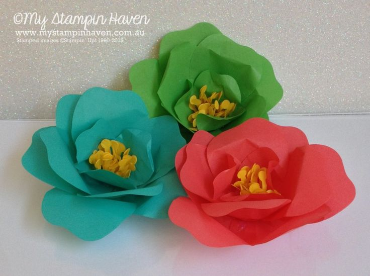 Cherry On Top Cotton Paper flowers with the Stampin' Up Bouquet Die:
