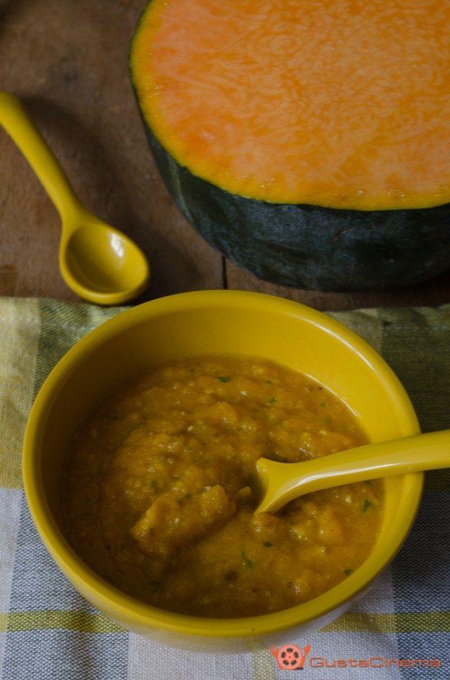 Pesto di zucca e nocciole è un condimento delicato e gustoso. Ottimo per condire la pasta oppure spalmato su crostini di pane.