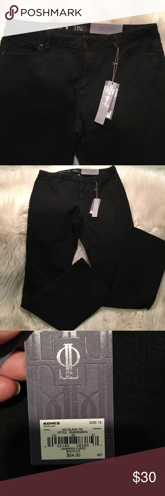 Jennifer Lopez Black Bootleg Jean Jennifer Lopez black, boot cut jeans. Perfect condition. Tags still attached. Jennifer Lopez Jeans Boot Cut