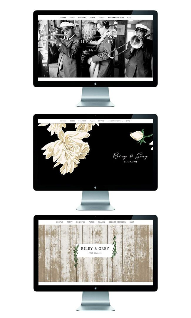 loving these modern wedding websites from Riley & Grey!