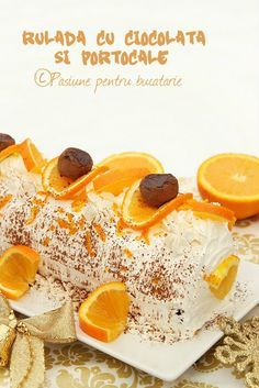 Rulada cu ciocolata si portocale