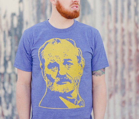 Bill Murray Tee: Men Gold, Gold Bill, Murray Graphics, Graphics Tees, Blue, Bill Murray,  Tees Shirts, Heather Royal, Bill Tees