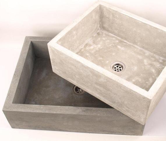 Kleines Beton Waschbecken Ub1 Etsy Kuche In 2019 Waschbecken
