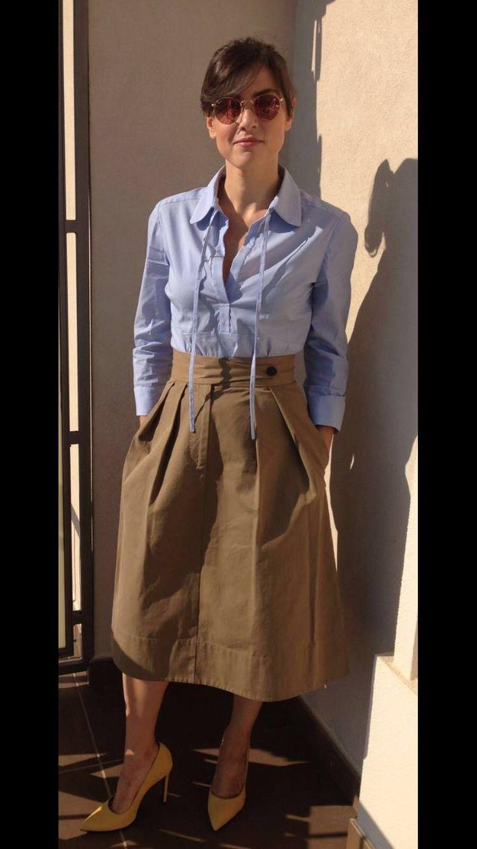 Linda Caridi al Festival Magna Grecia con gonna Mantù SS 2016! #magnagrecia   #festival   #mantu   #castorknowhow   #skirt   #ss2016   #beautiful