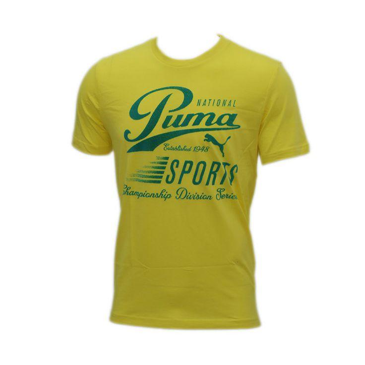 Καλοκαιρινό T-shirt από την καινούργια κολεξιόν της Puma.Αποτελείται 95% από βαμβάκι και 5% από ελαστάν για να εφαρμόζει τέλεια πάνω στο σώμα.