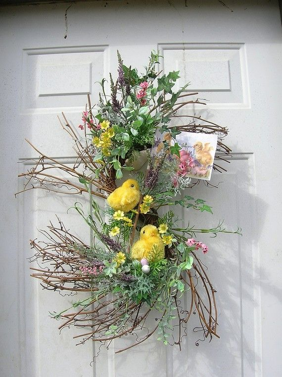 Chick door wreath