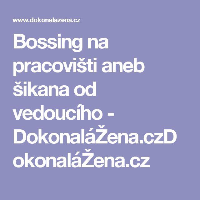 Bossing na pracovišti aneb šikana od vedoucího - DokonaláŽena.czDokonaláŽena.cz