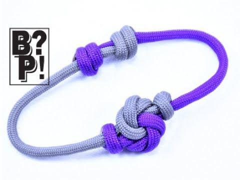 How to Make a Mandala Knot Paracord Sliding Knot Friendship Bracelet- - YouTube
