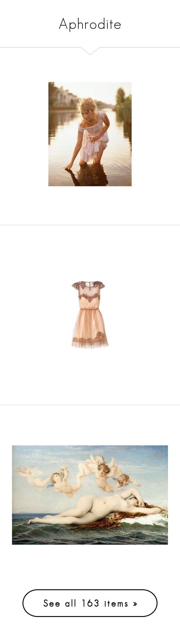 """""""Aphrodite"""" by liz-wade ❤ liked on Polyvore featuring pictures, people, models, backgrounds, photos, dresses, vestidos, платья, short dresses and art"""