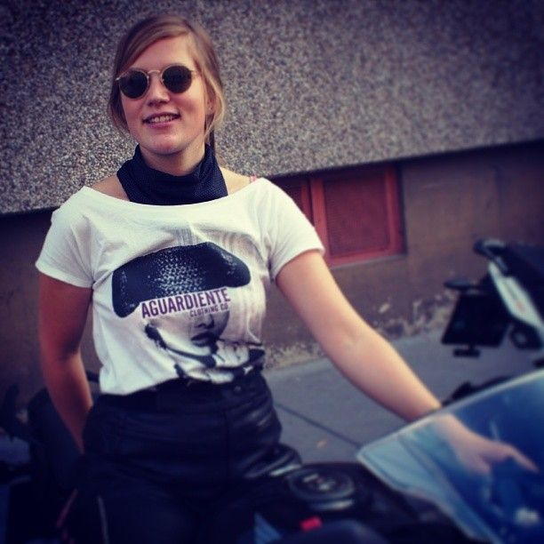Kerstin Pluch y Audrey, bikers in Viena!