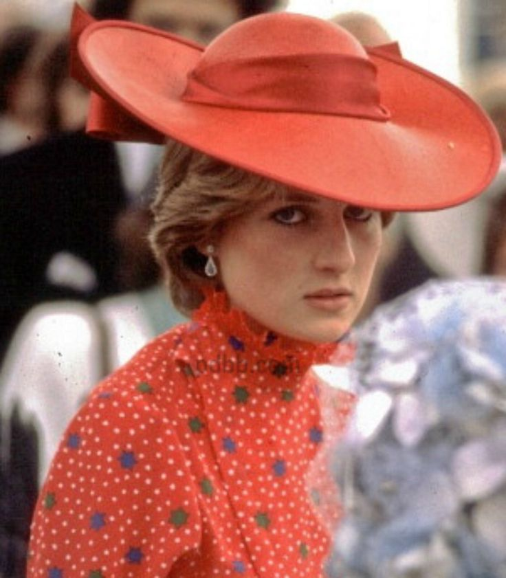 June 4, 1981: Lady Diana Spencer at the wedding of friend, Lord Nicholas Soames and Catherine Weatherall.