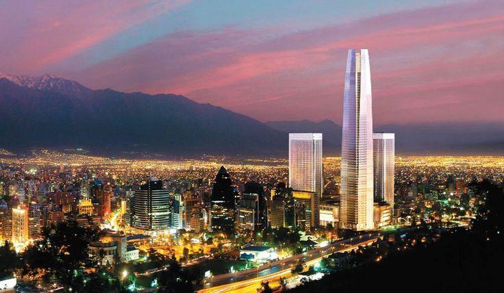Aerial view of Santiago. Santiago, also Santiago de Chile, is the capital of…