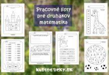 Pracovné listy pre druhákov – matematika