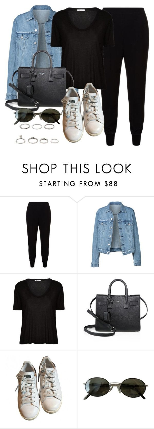 """Style #11527"" by vany-alvarado ❤ liked on Polyvore featuring STELLA McCARTNEY, T By Alexander Wang, Yves Saint Laurent, adidas, Ray-Ban and Forever 21"