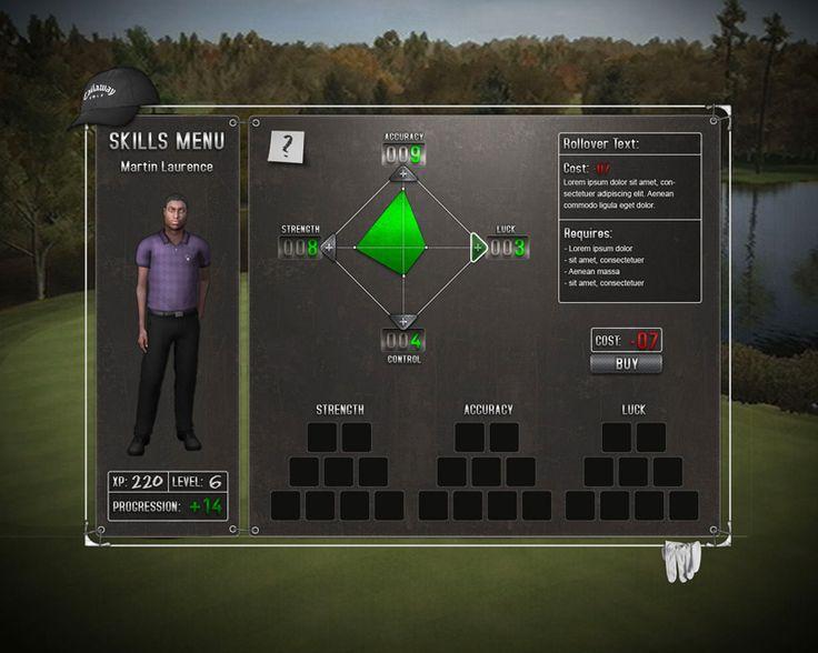 Early #Skill screen PEG, Golf sim
