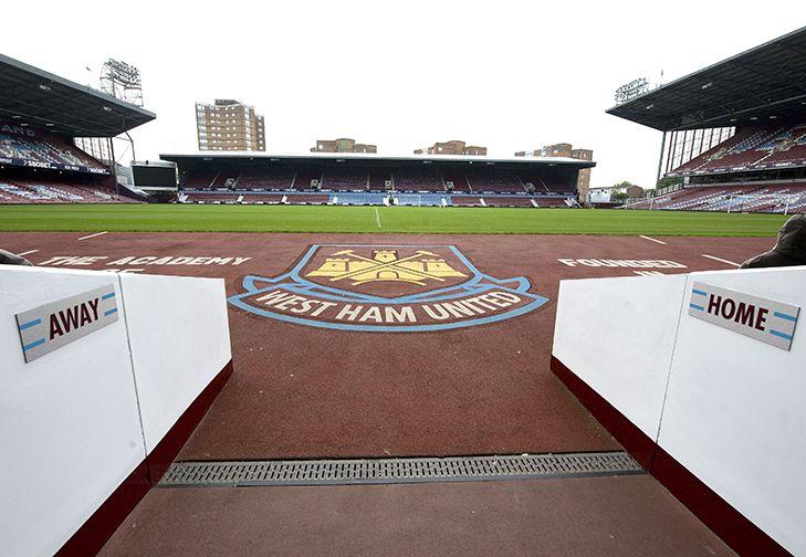 West Ham United. Boleyn Ground. Pitch & Stands. London. England.