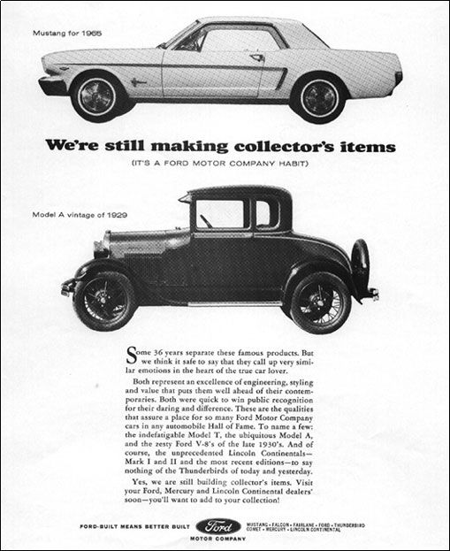 47 best 1964 5 65 66 mustang advertisement images on for Ford motor company history