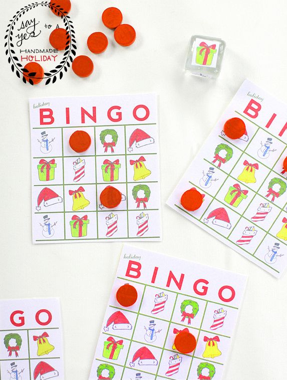 A Holiday Bingo Game | 51 Hopelessly Adorable DIY Christmas Decorations