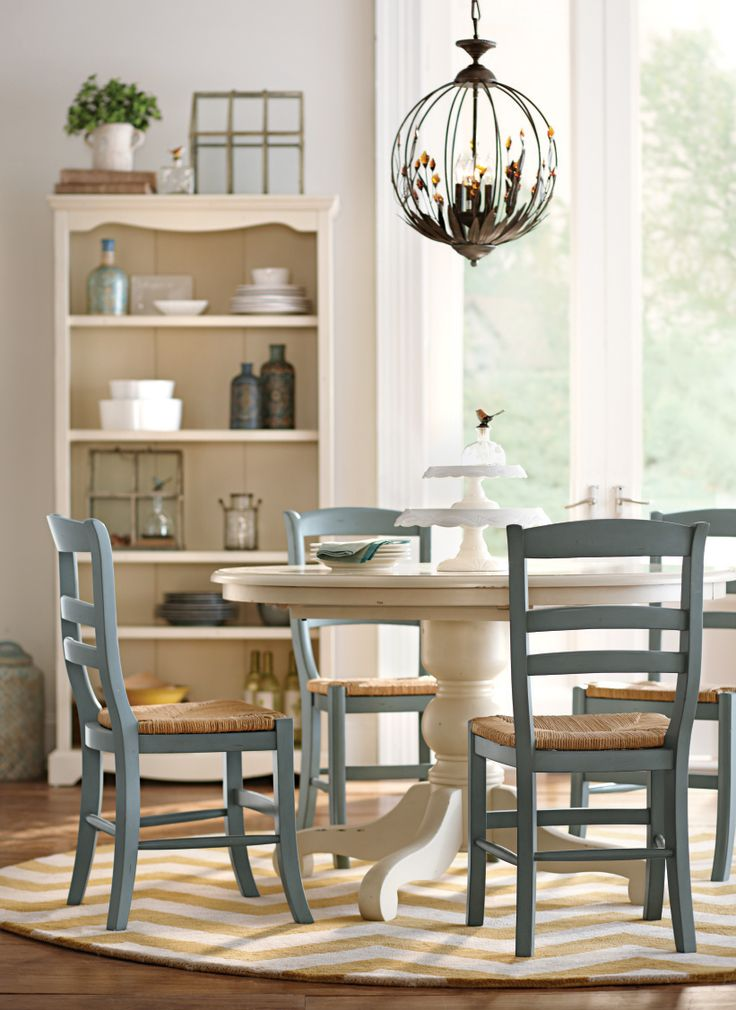 Round dining table... perfect for breakfast, lunch, and dinner. HomeDecorators.com