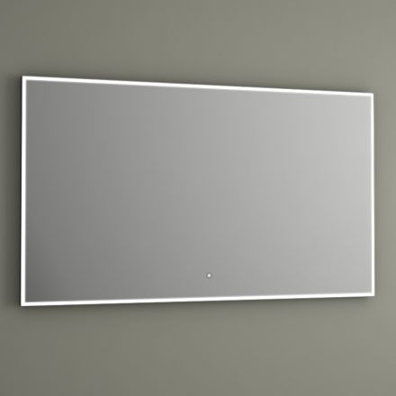 Miroir lumineux pour salle équipé de lampe LED, de capteur sensitif et de système anti-buée. Miroir très élégant avec bordure en aluminium.