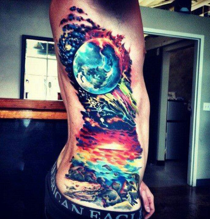 Galaxy and ocean... gorgeous