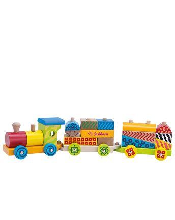 Kleiner Zug 18-teilig aus Holz in bunt