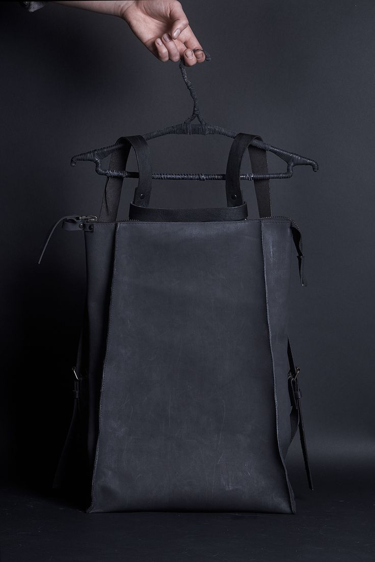 рюкзак из натуральной кожи арт.071Y - black. натуральная кожа, хлопковый подклад | «Ламбада-маркет»