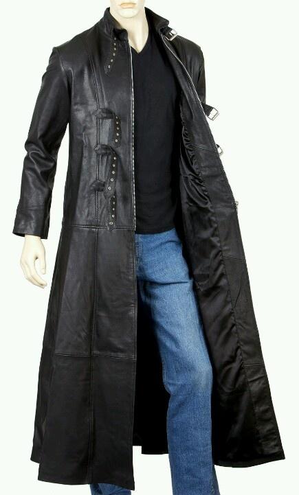 Full Length Leather Coats For Men