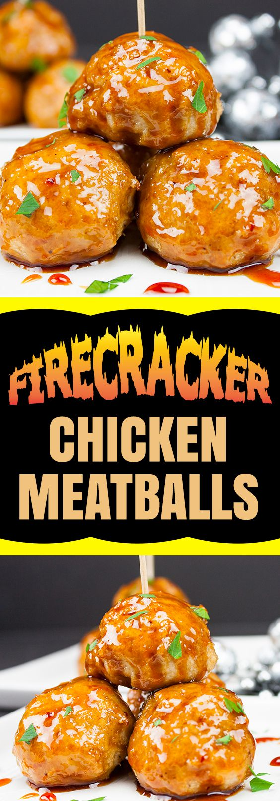 Firecracker Chicken Meatballs pack loads of spicy, sticky, slightly sweet flavor in one little morsel! They are perfect for any party or gathering.