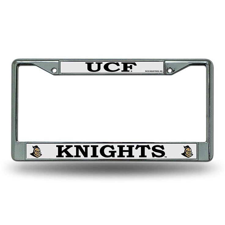 Rico Chrome License Plate Frame - University of Central Florida