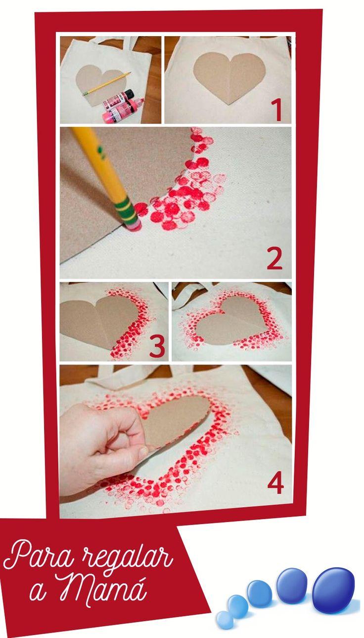 Comedor ideas de pintura roja - Manualidades Para Hacer Junto A Tu Peque Y Estampar Juntos Un Gran Coraz N Para Recordar