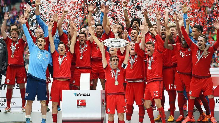 Congratulations. FC Bayern Munich lifted the German championship. Pep Guardiola's Bayern side were crowned German champions for the 25th time after Saturday's 2-0 victory over Mainz.