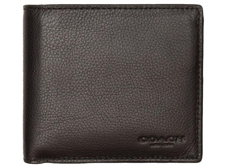 Amazon   [コーチ] COACH 財布(二つ折り財布) F75003 ブラック カーフ レザー コイン ウォレット メンズ [アウトレット品] [ブランド] [並行輸入品]   財布