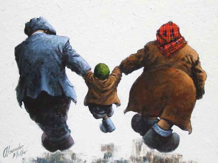Thats Our Boy Original by Alexander Millar *SOLD* - The Acorn Gallery - Beautiful and Unique Artwork #contemporary #art #York #Yorkshire #Pocklington #alexandermillar #launchday #gadgies #gals #workingman #2016 #collection #ships #Shipbuilding #family #kids #dad #grandad #grandpa #mum #mam #grannie #grandma