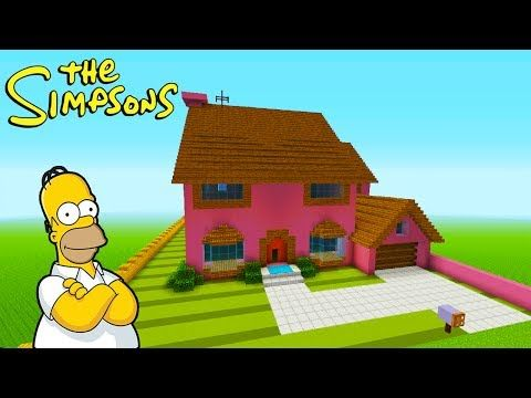 """Minecraft Tutorial: How To Make The Simpsons House """"The Simpsons"""" Survival House 